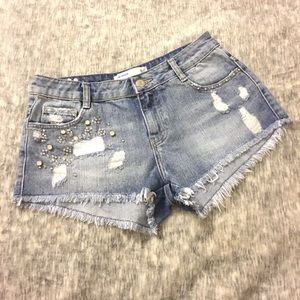 Zara TRF Distressed Grunge Shorts Size 2